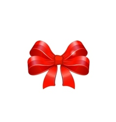 Red bow vector