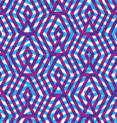 Geometric messy violet lined seamless pattern vector