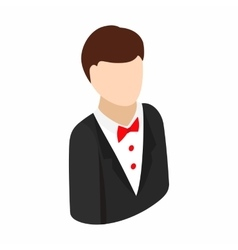 Croupier isometric 3d icon vector