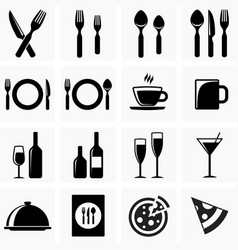 Icons for the kitchen vector