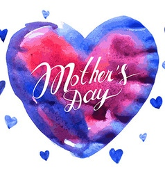 Mothers day hand lettering vector