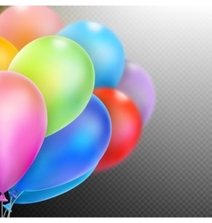 Balloons isolated EPS 10 vector image
