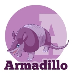 Abc cartoon armadillo vector