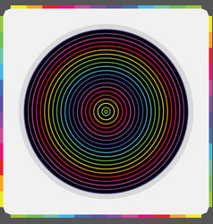 Abstract colorful parallel inner circles pattern vector
