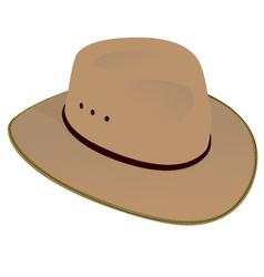 Australian wide brim hat vector