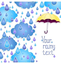 background for the text with an umbrella vector image vector image