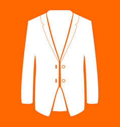 Business suit white icon vector