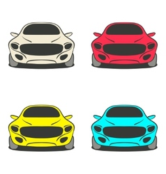 car set four colors vector image vector image