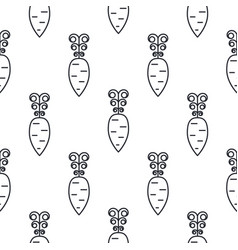 Carrot line icon seamless pattern vector