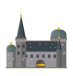 cartoon fairy tale castle tower icon cute vector image vector image
