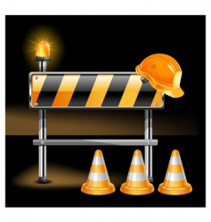 construction in black vector image vector image