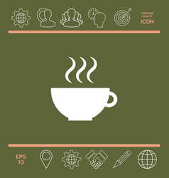 cup with steam vector image vector image