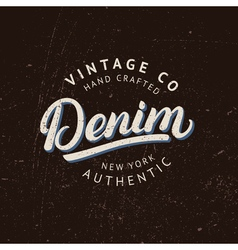 Denim hand written lettering vector