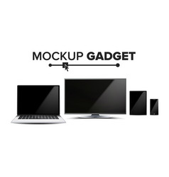 gadget and device mockup trendy electronic vector image