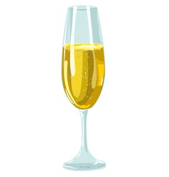 Glass With Champagne vector image vector image