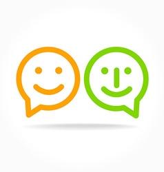 happy smile speech-bubble vector image