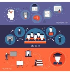 Higher Education Banner Set vector image