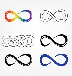 Infinity symbols signs vector