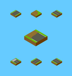 Isometric way set of cracks incomplete flat and vector