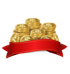 Jackpot background golden casino treasure vector