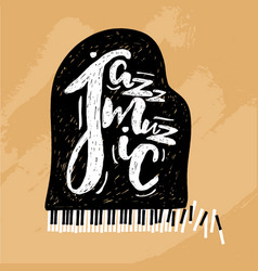 jazz music lettering composition inscription with vector image vector image