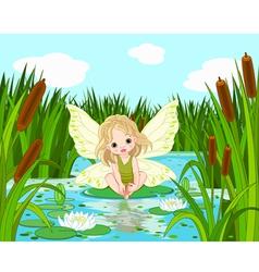 Lake fairy vector