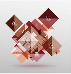 modern square composition abstract banner vector image vector image