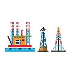 Oil extraction platform vector
