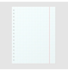 Paper note sheet for message vector image vector image