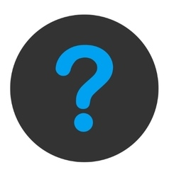 Question flat blue and gray colors round button vector