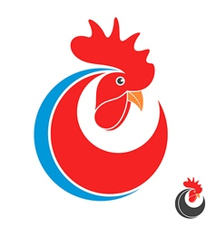 Rooster Symbol of New Year 2017 vector image vector image