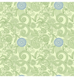seamless flower paisley design background vector image vector image