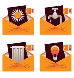 Utility Bills vector image