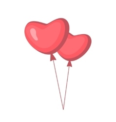 Valentine s day stylish icons set cartoon style vector