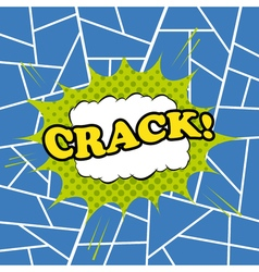 Crack comic cartoon vector