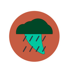 In flat design of tornado and vector