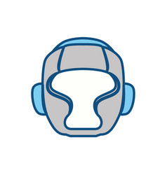 Boxing mask equipment vector