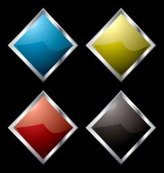 metal surround diamond vector image