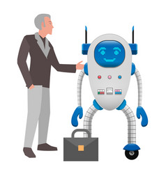 Human and robot cooperation isolated vector