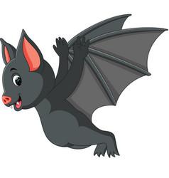 Cute bat cartoon vector