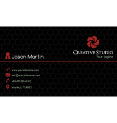 Creative business card vector