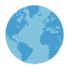 Globe - abstract lines vector