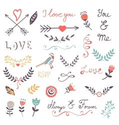 Elegant romantic collection vector