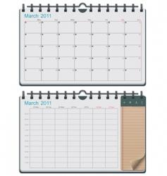 vector calendar template vector image