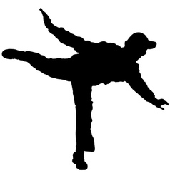 Man balancing on one foot vector