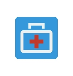 Medical bag icon vector