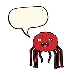 Cartoon spider with speech bubble vector