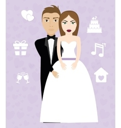 Happy wedding design vector image