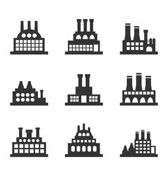 Factory icon3 vector image
