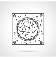 Virology research flat line design icon vector image